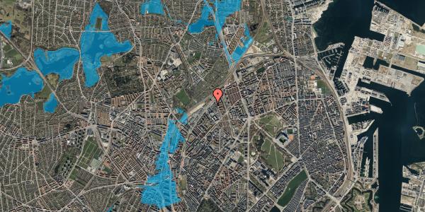 Oversvømmelsesrisiko fra vandløb på Emblasgade 21, st. , 2100 København Ø
