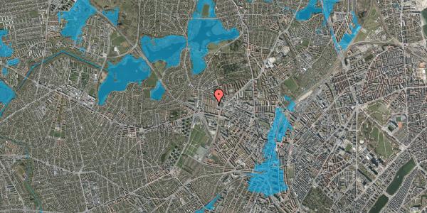 Oversvømmelsesrisiko fra vandløb på Mesterstien 1B, 2400 København NV