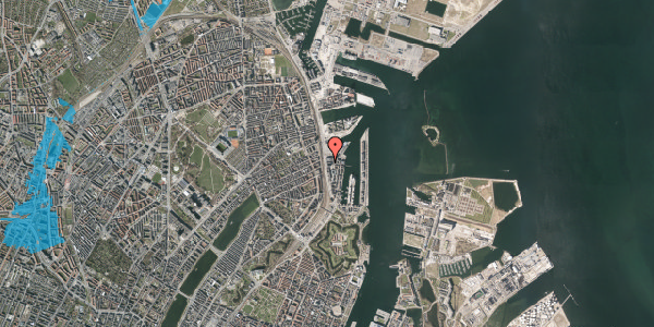 Oversvømmelsesrisiko fra vandløb på Kalkbrænderihavnsgade 4D, 2. tv, 2100 København Ø