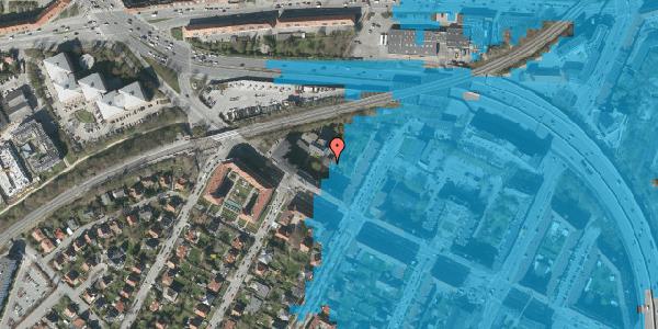 Oversvømmelsesrisiko fra vandløb på Borups Alle 148A, 1. , 2000 Frederiksberg