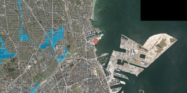 Oversvømmelsesrisiko fra vandløb på Strandpromenaden 71, 2100 København Ø
