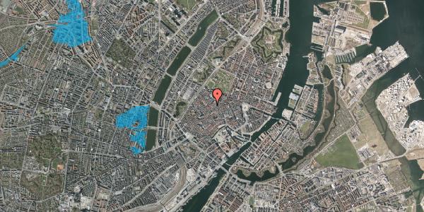 Oversvømmelsesrisiko fra vandløb på Købmagergade 49, 1. 1, 1150 København K
