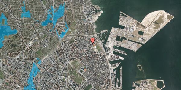 Oversvømmelsesrisiko fra vandløb på Carl Nielsens Allé 9C, 1. , 2100 København Ø