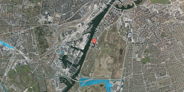 Oversvømmelsesrisiko fra vandløb på Rundholtsvej 103, 2300 København S