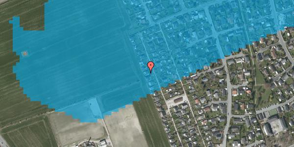 Oversvømmelsesrisiko fra vandløb på Hf. Dahlia 70, 2650 Hvidovre