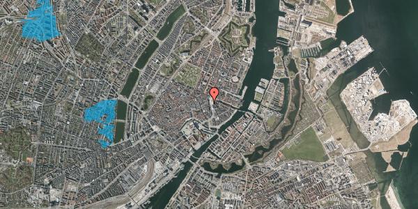 Oversvømmelsesrisiko fra vandløb på Kongens Nytorv 21F, 1050 København K