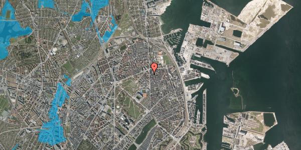 Oversvømmelsesrisiko fra vandløb på Vordingborggade 2C, 2. , 2100 København Ø