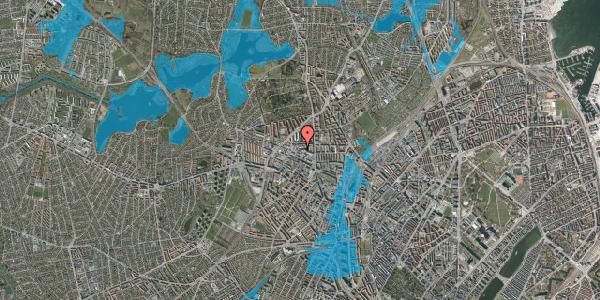 Oversvømmelsesrisiko fra vandløb på Dortheavej 2G, 1. tv, 2400 København NV