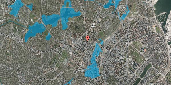 Oversvømmelsesrisiko fra vandløb på Dortheavej 2, 4. 18, 2400 København NV