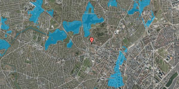 Oversvømmelsesrisiko fra vandløb på Skoleholdervej 95, 1. th, 2400 København NV
