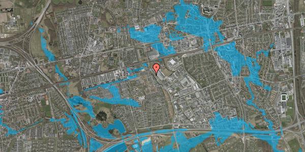 Oversvømmelsesrisiko fra vandløb på Firkløverparken 42, 2625 Vallensbæk