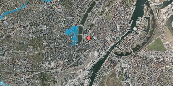Oversvømmelsesrisiko fra vandløb på Vester Farimagsgade 1, 2. , 1606 København V