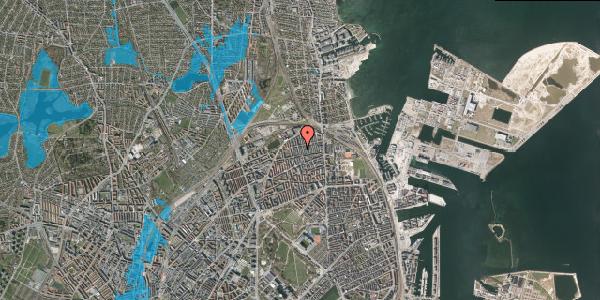 Oversvømmelsesrisiko fra vandløb på Thomas Laubs Gade 10A, 1. , 2100 København Ø