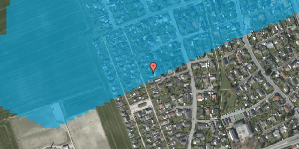Oversvømmelsesrisiko fra vandløb på Hf. Dahlia 36, 2650 Hvidovre