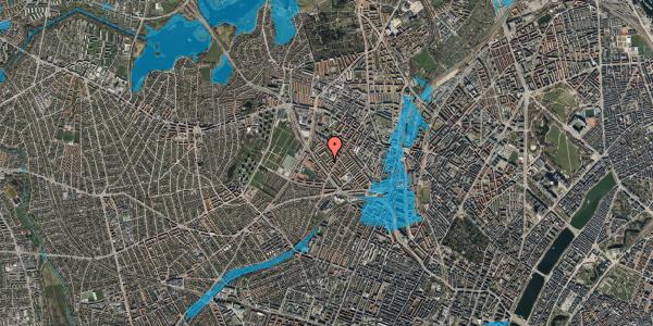 Oversvømmelsesrisiko fra vandløb på Vestergårdsvej 14A, kl. , 2400 København NV