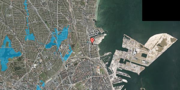 Oversvømmelsesrisiko fra vandløb på Strandvejen 32F, 2100 København Ø