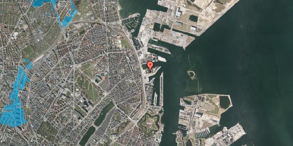 Oversvømmelsesrisiko fra vandløb på Marmorvej 9A, 4. tv, 2100 København Ø