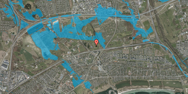 Oversvømmelsesrisiko fra vandløb på Golfsvinget 6, 2625 Vallensbæk