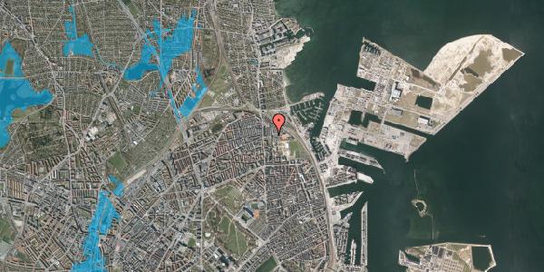 Oversvømmelsesrisiko fra vandløb på Carl Nielsens Allé 9D, 1. , 2100 København Ø