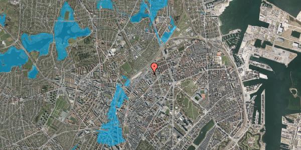Oversvømmelsesrisiko fra vandløb på Emblasgade 119, 1. tv, 2100 København Ø