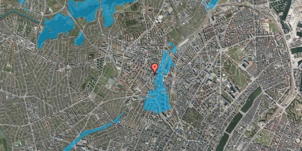 Oversvømmelsesrisiko fra vandløb på Vibevej 7C, 1. th, 2400 København NV