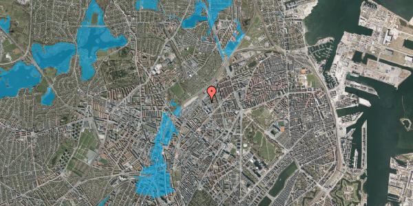 Oversvømmelsesrisiko fra vandløb på Emblasgade 161, 1. tv, 2100 København Ø