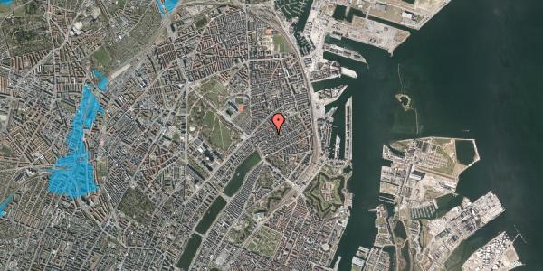 Oversvømmelsesrisiko fra vandløb på Rosenvængets Allé 20C, 2100 København Ø