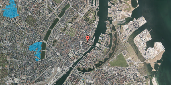 Oversvømmelsesrisiko fra vandløb på Nyhavn 19, kl. , 1051 København K