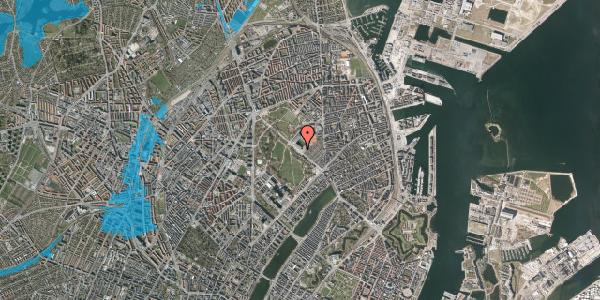 Oversvømmelsesrisiko fra vandløb på Øster Allé 40, 4. , 2100 København Ø