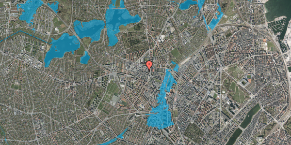 Oversvømmelsesrisiko fra vandløb på Rentemestervej 42B, 1. 2, 2400 København NV