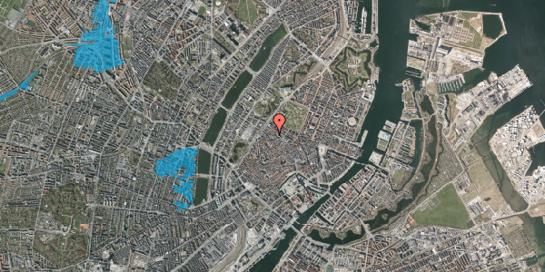 Oversvømmelsesrisiko fra vandløb på Hausergade 3, 1. , 1128 København K