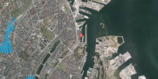 Oversvømmelsesrisiko fra vandløb på Dampfærgevej 7, 2. th, 2100 København Ø