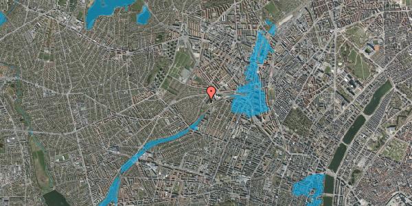 Oversvømmelsesrisiko fra vandløb på Jordbærvej 153, 1. , 2400 København NV