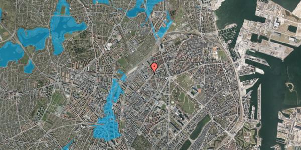 Oversvømmelsesrisiko fra vandløb på Ragnhildgade 2, 2100 København Ø