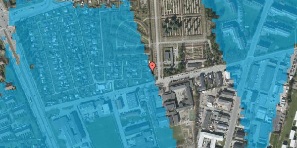 Oversvømmelsesrisiko fra vandløb på Hf. Svarø 136, 2650 Hvidovre