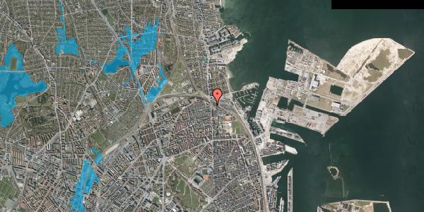 Oversvømmelsesrisiko fra vandløb på Ved Sporsløjfen 1, 2100 København Ø