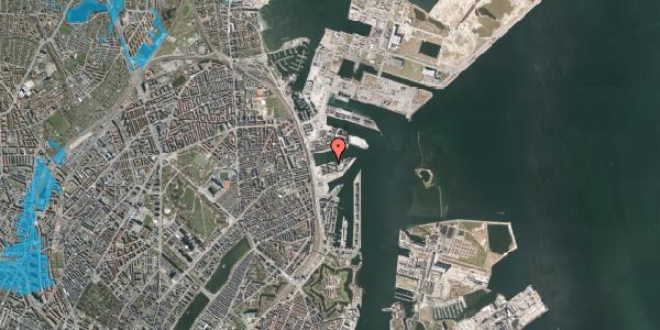 Oversvømmelsesrisiko fra vandløb på Marmorvej 33, 1. th, 2100 København Ø