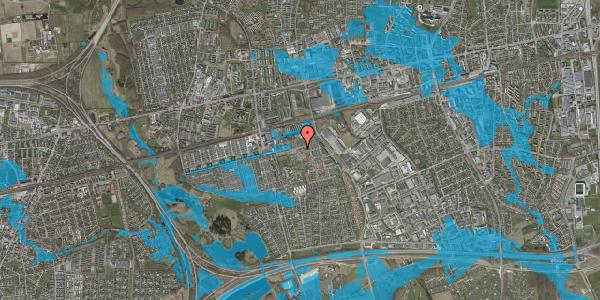 Oversvømmelsesrisiko fra vandløb på Gymnasievej 13, 2625 Vallensbæk