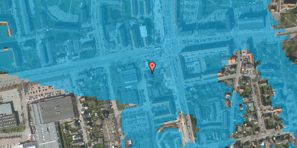 Oversvømmelsesrisiko fra vandløb på Christiansvej 3, 2600 Glostrup