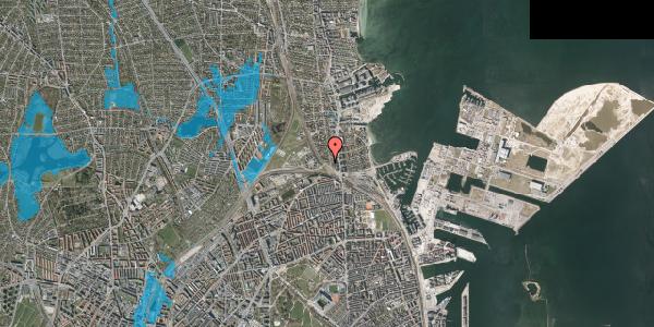 Oversvømmelsesrisiko fra vandløb på Ryvangs Allé 4B, 2100 København Ø