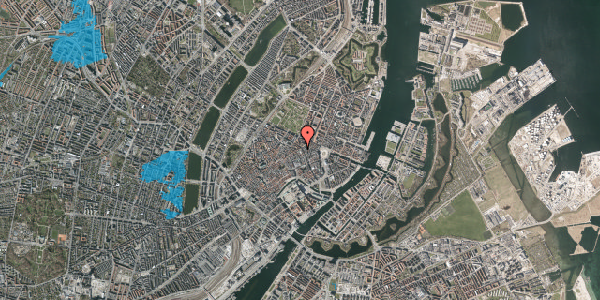 Oversvømmelsesrisiko fra vandløb på Sværtegade 10, 4. , 1118 København K