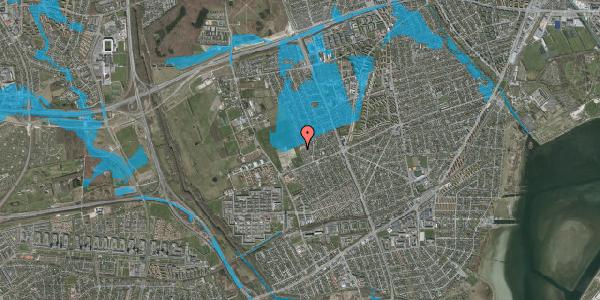 Oversvømmelsesrisiko fra vandløb på Hf. Dahlia 84, 2650 Hvidovre