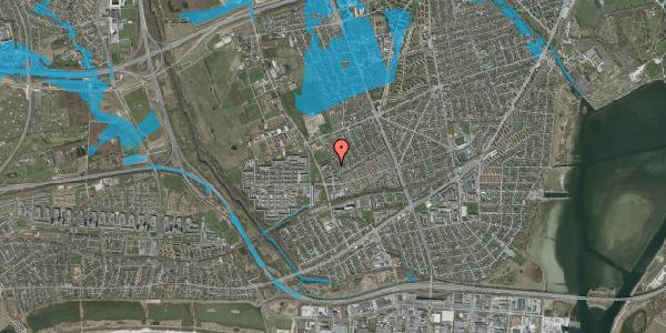 Oversvømmelsesrisiko fra vandløb på Mellemvangsvej 108, 2650 Hvidovre