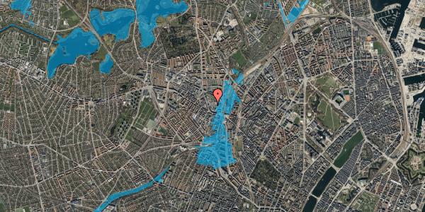 Oversvømmelsesrisiko fra vandløb på Drejervej 8H, st. , 2400 København NV