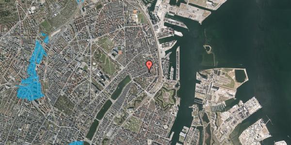 Oversvømmelsesrisiko fra vandløb på Classensgade 35C, 2100 København Ø