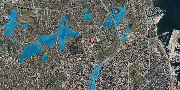 Oversvømmelsesrisiko fra vandløb på Peter Rørdams Vej 2H, 2400 København NV
