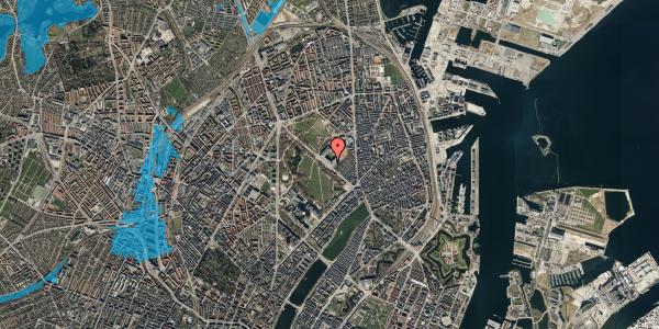 Oversvømmelsesrisiko fra vandløb på Øster Allé 40, 5. , 2100 København Ø