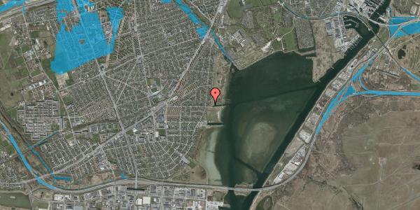 Oversvømmelsesrisiko fra vandløb på Lodsvej 83, 2650 Hvidovre