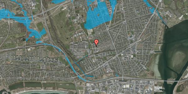 Oversvømmelsesrisiko fra vandløb på Mellemvangsvej 43, 2650 Hvidovre