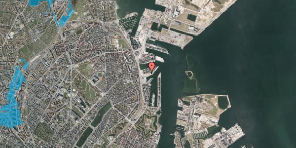 Oversvømmelsesrisiko fra vandløb på Marmorvej 21A, 2100 København Ø